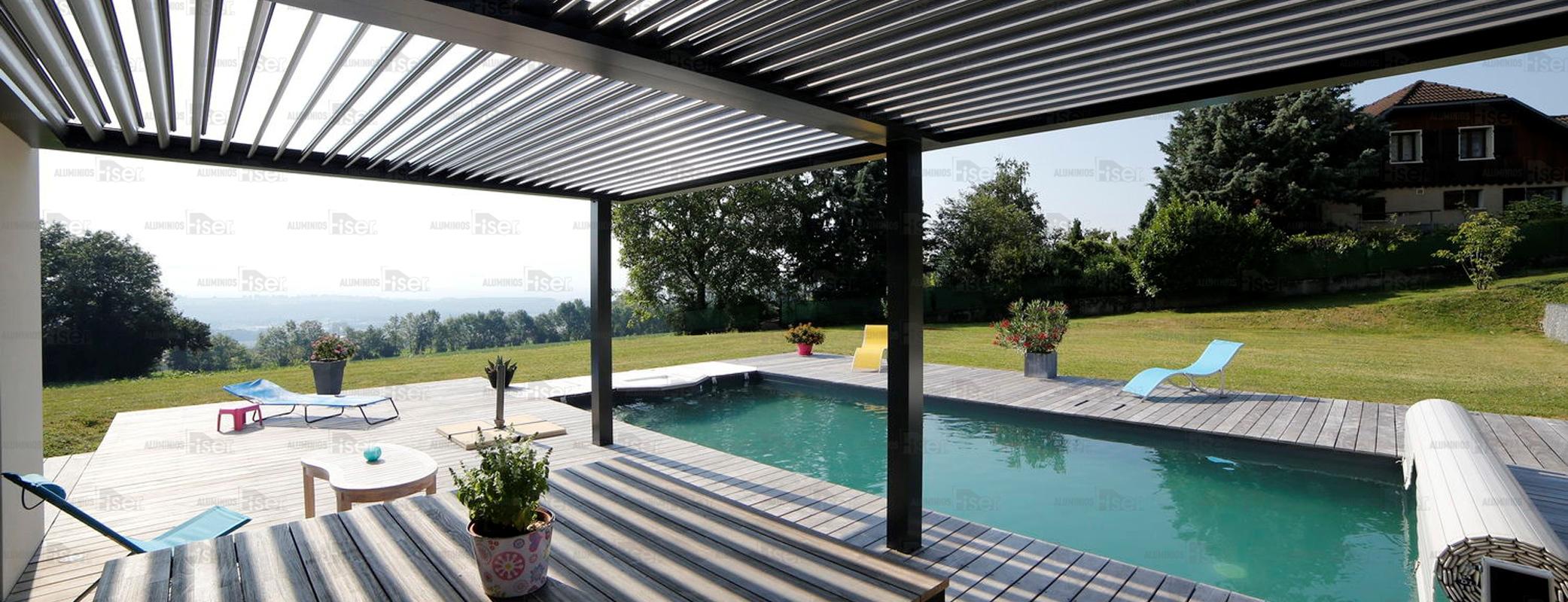 Toldos y pergolas de jardin aluminios fiser - Toldos sol y sombra ...