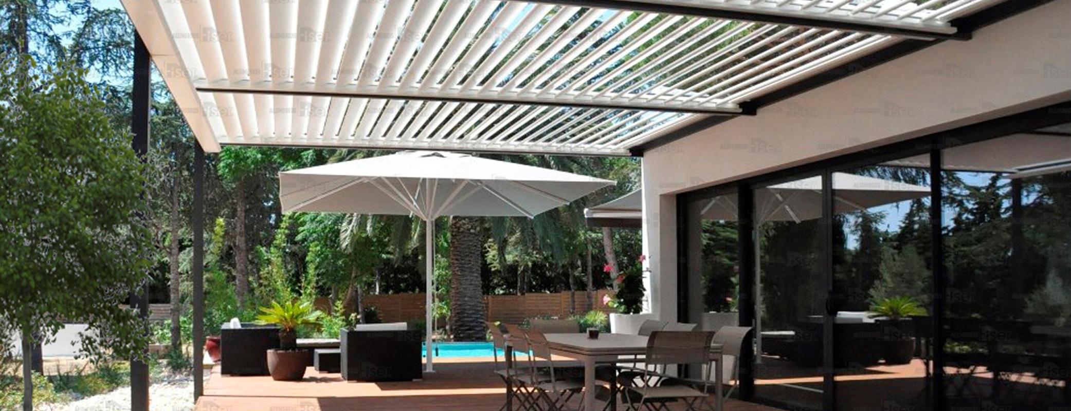 toldos y pergolas de jardin aluminios fiser